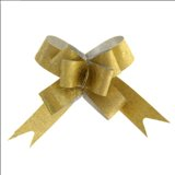 Бант-бабочка № 1,2 Фактура, цвет золотой