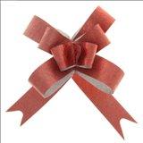Бант-бабочка №1,8 Фактура, цвет бордовый