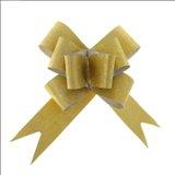 Бант-бабочка №3 Фактура, цвет золотой